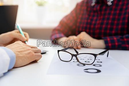 eye health black glasses on