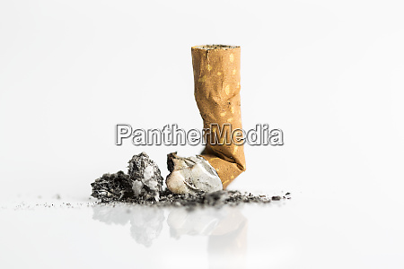 cigarette butt close up