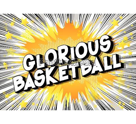 glorious basketball comic book style
