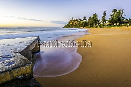 long exposure beach shot