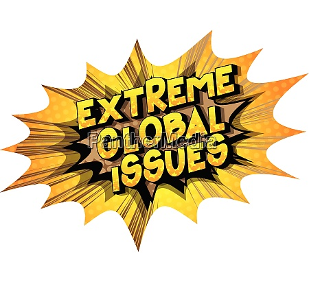 extreme global issues comic book