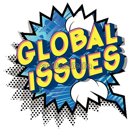 global issues comic book style