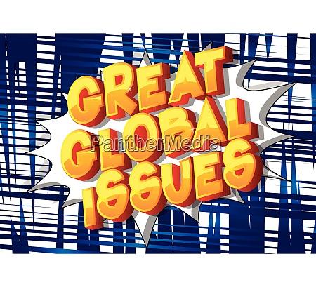 great global issues comic book