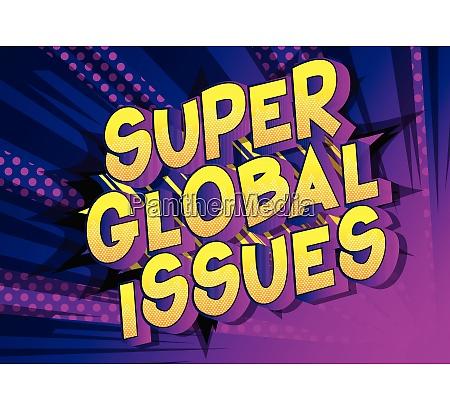 super global issues comic book