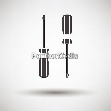 screwdriver icon screwdriver icon on gray