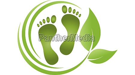 feet leaves foot care podiatry logo