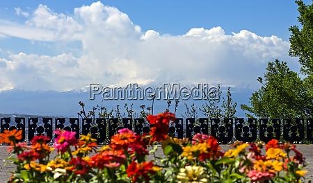 a beautiful view of mountain ararat