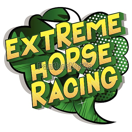 extreme horse racing comic book