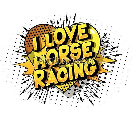 i love horse racing comic