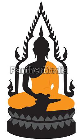 meditation belief thai buddha temple statue
