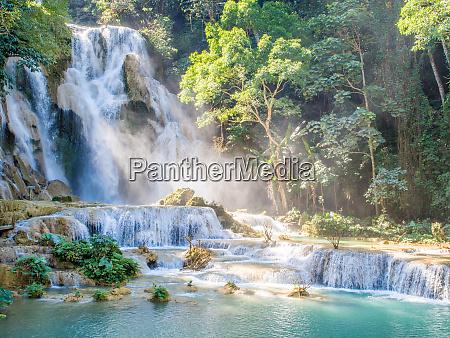keang si waterfall luang prabang laos