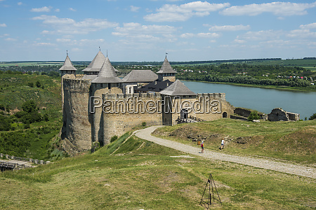khotyn fortress on the river banks