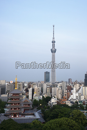 view over city with tokyo skytree