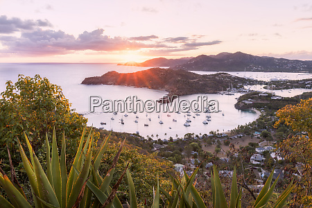 overview of english harbour from shirley