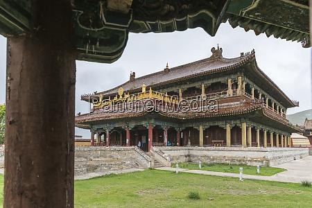 temple in amarbayasgalant monastery mount buren