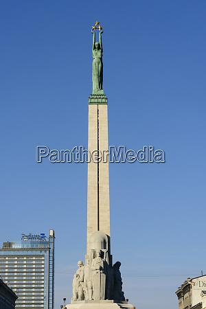 freedom monument riga latvia europe