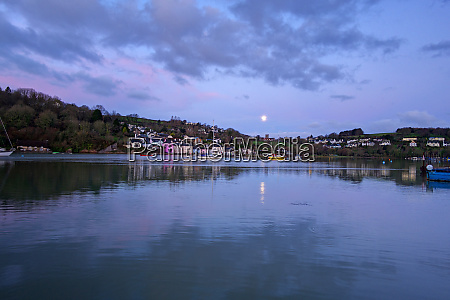 moon reflected in the river dart