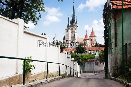 beautiful medieval city brasov transylvania romania