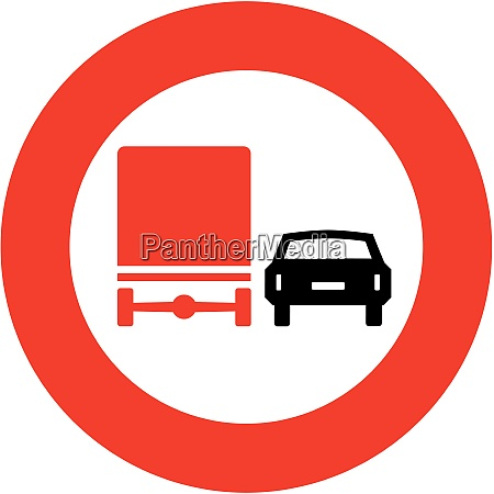 truck no passing zone