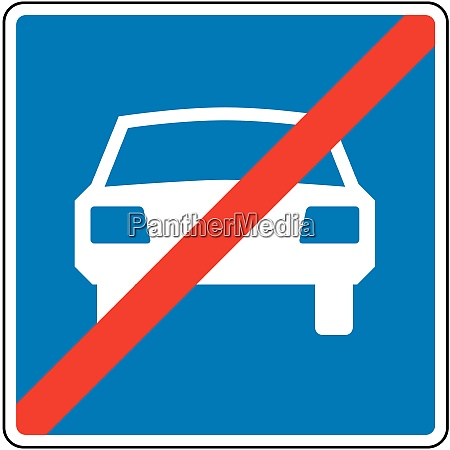 end of road for motor vehicles