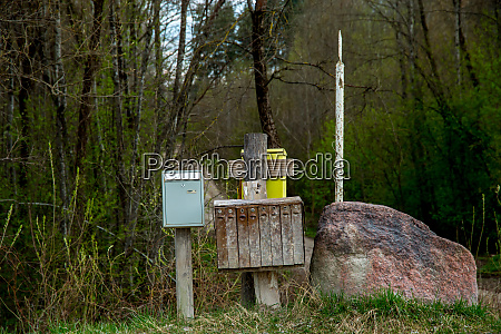 rural mailbox at the big stone