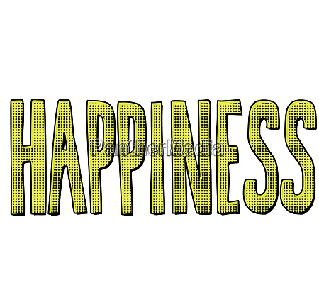 happiness word text