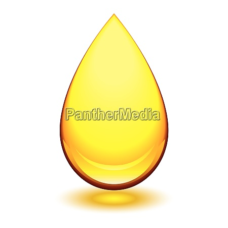 golden amber icon with tear droplet