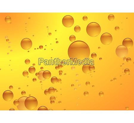 subtle amber bubble background illustrated with