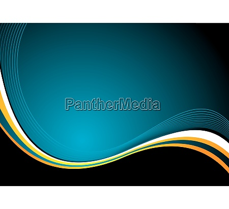 abstract illustrated flowing background with cool