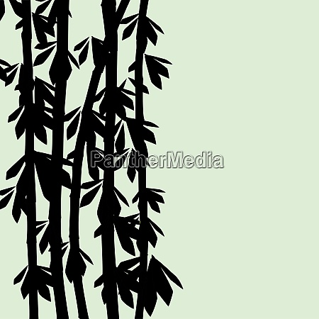 an abstract floral background with bamboo