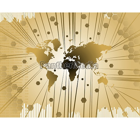 business background in gold showing the