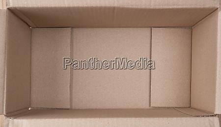 open empty brown cardboard box