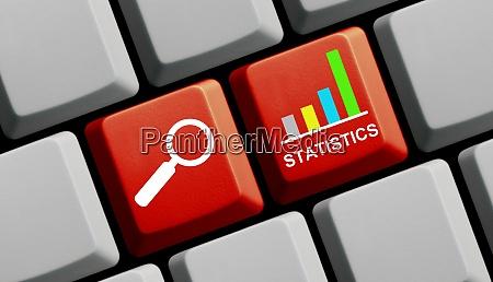 red computer keyboard statistics