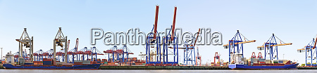 panorama of a container harbour