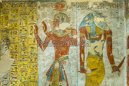 ancient egyptian painting of two gods