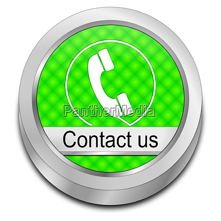 decorative green button contact us