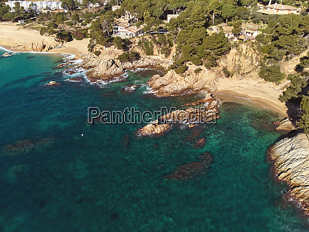 drone picture over the costa brava