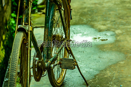 bicycle on a rural nature close