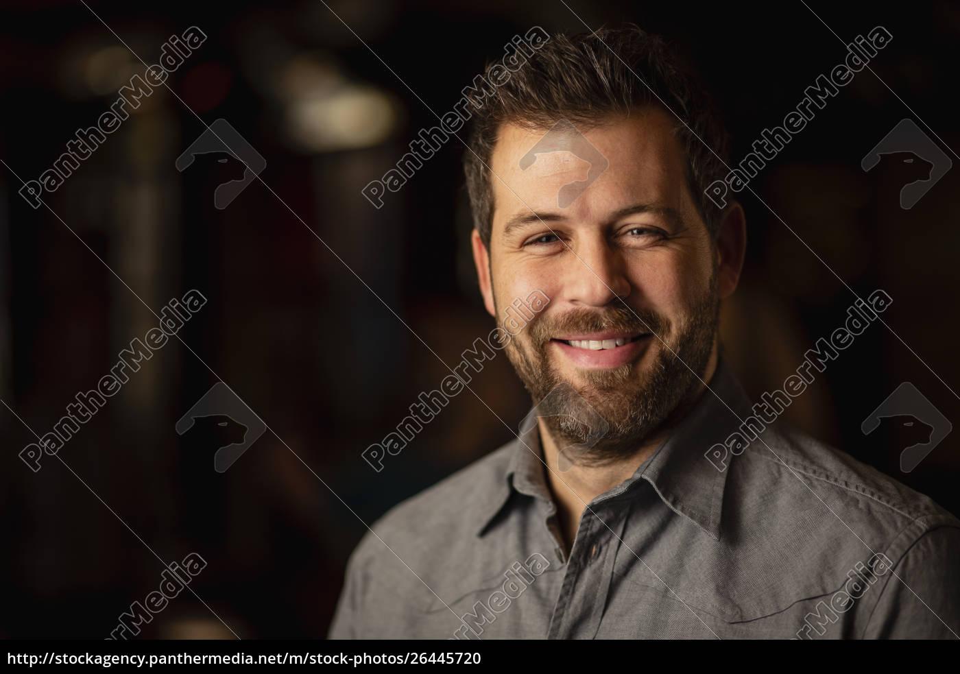 smiling, mid, adult, man - 26445720