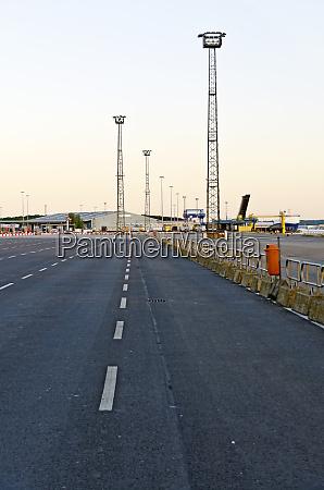 ferry port of rostock