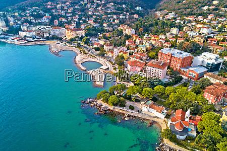 scenic coastline of opatija and slatina