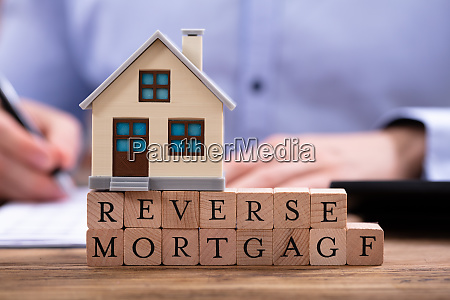 reverse mortgage in front of businessman