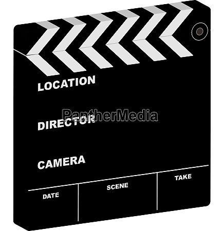 illustration of a film clapper with