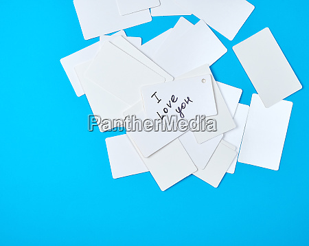 many empty rectangular white paper business