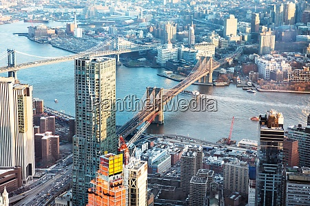 elevated view of brooklyn bridge