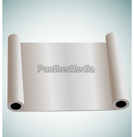 illustration of blank paper roll for
