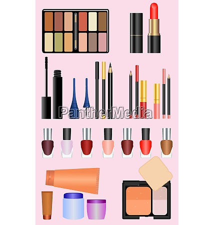 professional make up set vector
