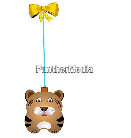 navidad fur tree toy tiger vector