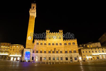 siena night view tuscany italy