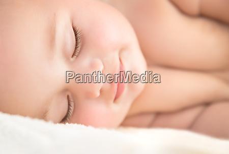sweet little baby sleeping